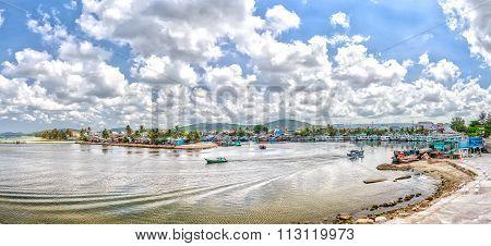 Offshore fishing fleet in one morning