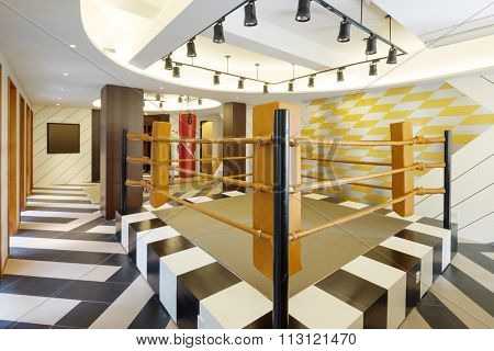 decoration and appliance in modern gym