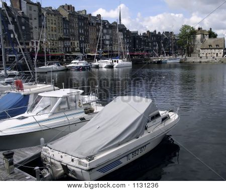 Harbor City Of Honfleur France