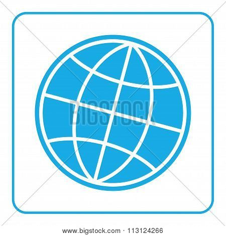 Earth Globe Icon Global World Sign