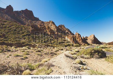 Arid Landscape Of Teide National Park, Tenerife