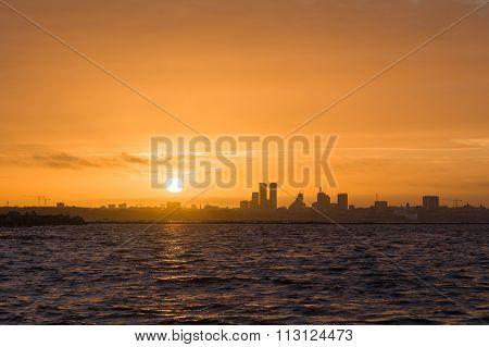 Silhouette Of Tallinn City