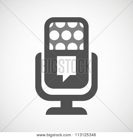 Isolated Microphone Icon With A Tooltip