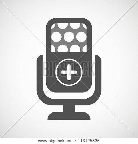 Isolated Microphone Icon With A Sum Sign