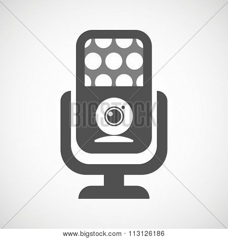 Isolated Microphone Icon With A Web Cam