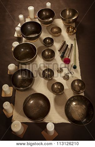 Set Of Tibetan Singing Bowls
