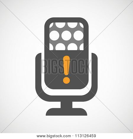Isolated Microphone Icon With An Admiration Sign