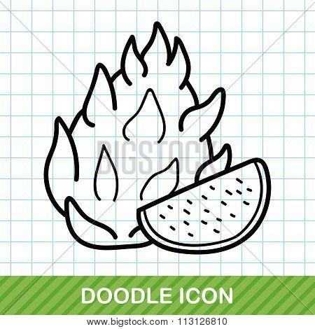 Fruits Pitaya Doodle