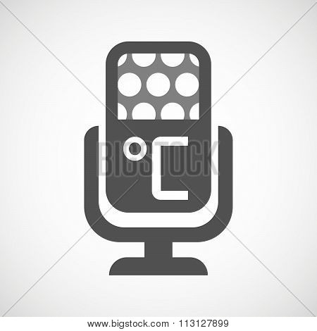 Isolated Microphone Icon With  A Celsius Degree Sign