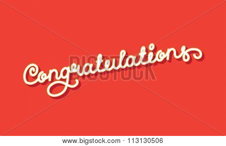 Congratulations Elegant Hand Lettering