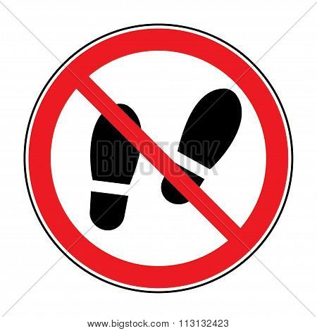 No Shoes Sign Warning