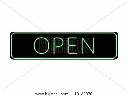 Open Sign Neon Color