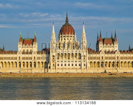 The Hungarian Parliament On A Sunset