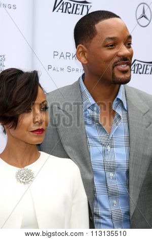 PALM SPRINGS - JAN 3:  Jada Pinkett Smith, Will Smith at the Variety Creative Impact Awards And 10 Directors To Watch Brunch at the The Parker Hotel on January 3, 2016 in Palm Springs, CA
