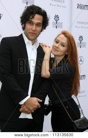 PALM SPRINGS - JAN 3:  Gabriel Nussbaum, Elizabeth Wood at the Variety Creative Impact Awards And 10 Directors To Watch Brunch at the The Parker Hotel on January 3, 2016 in Palm Springs, CA