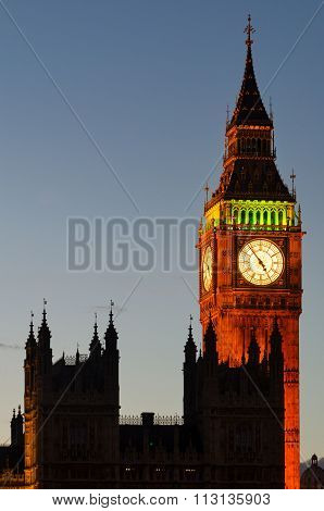 Big Ben Tower And Westminster (london)