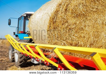 Straw On A Tractor Trailer