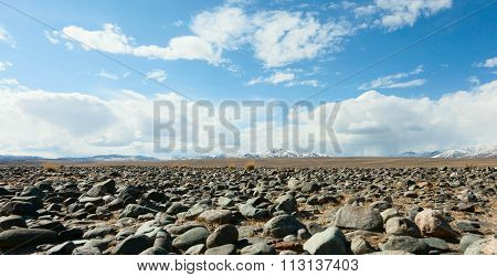Mountains, The Steppe And The Sky