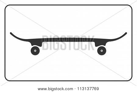 Skateboard Icon Isolated On White Background