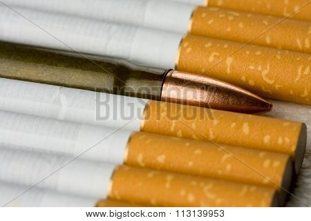 Bullet Among Filtertipped Cigarettes