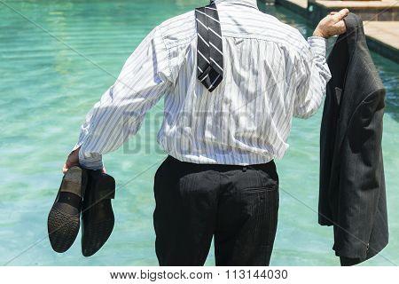 Businessman Summer Holiday