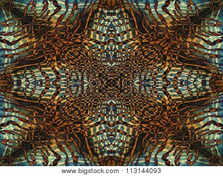 Tiger Fur Kaleidoscope Pattern