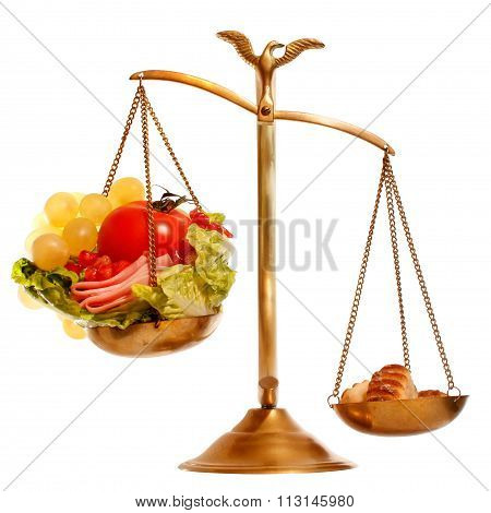 Balance With Healthy Vs Heavy Food
