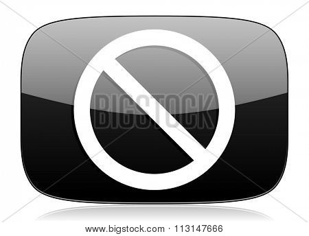 access denied black glossy web modern icon