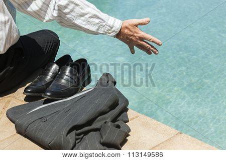 Businessman Jacket  Hand Pool