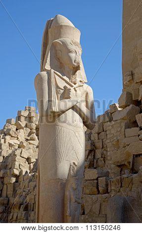 Ramses Ii Statue In Karnak Complex
