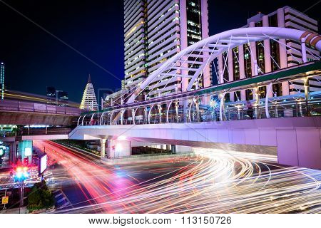 Bangkok - November 2: Chong Nonsi Station Is A Bts Sky-train Station On November 2, 2015 In Bangkok,