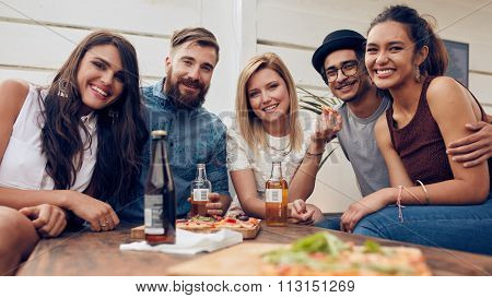Group Of Friends Partying Together