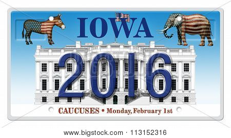 2016 Election License Plate