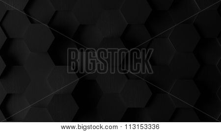 Extra Dark Hexagonal Tile Background (Lights Off)