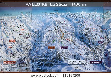 Ski Run Map