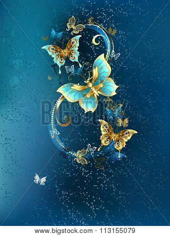 Eight Of  Luxury Butterflies