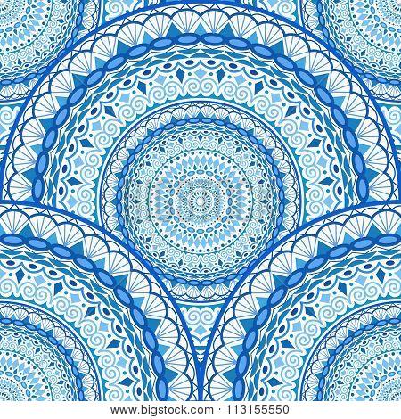 Decorative Sea Waves Seamless Pattern