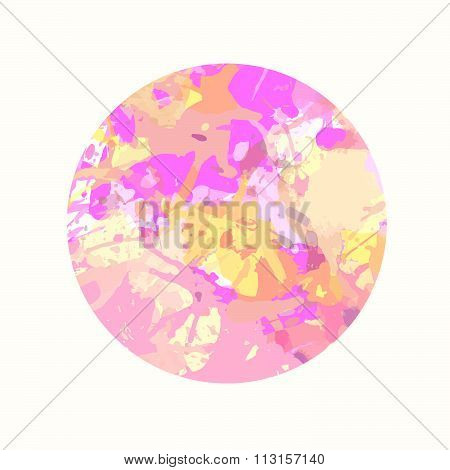 Pastel Artistic Paint Splashes In A Circle