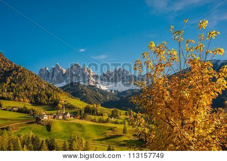 Autumn Landscape With Santa Maddalena