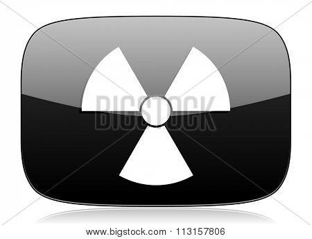 radiation black glossy web modern icon