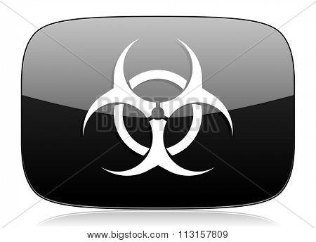 biohazard black glossy web modern icon