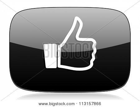 like black glossy web modern icon