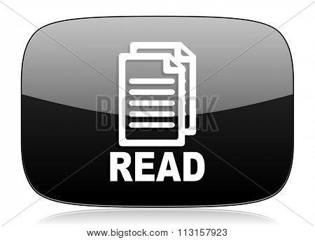 read black glossy web modern icon