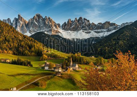Autumn Landscape With Santa Maddalena