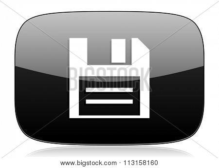 disk black glossy web modern icon