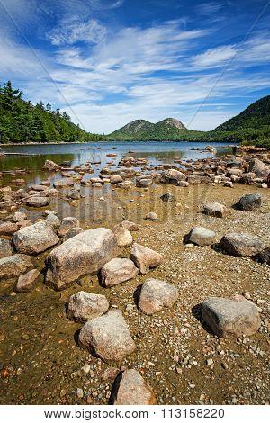 Jordan Pond, Acadia National Park, Mount Desert Island, maine, USA