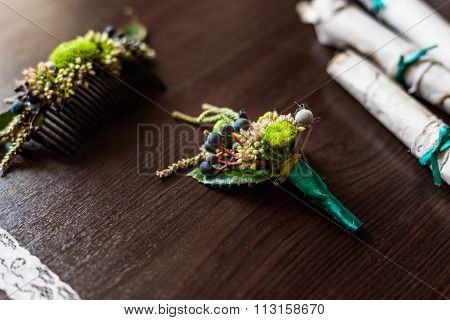 Boutonniere Made Of Cotton