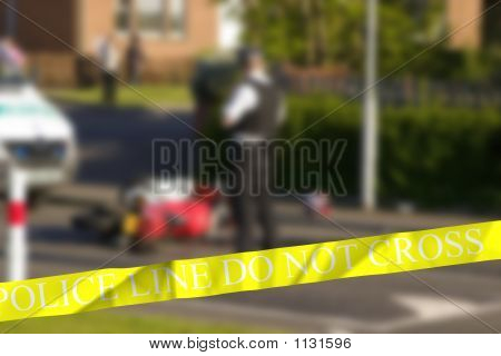 Police Crime Scene - Background Blurred.