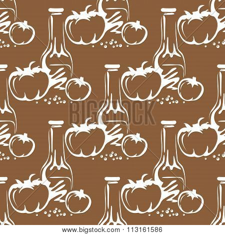 tomatoes oil seamless pattern