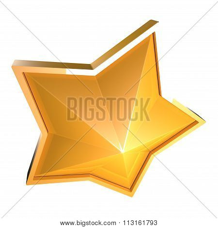 Gold Sparking Star